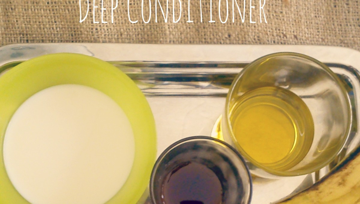 DIY Kitchen Cabinet Deep Conditioner for Protein Sensitive Hair